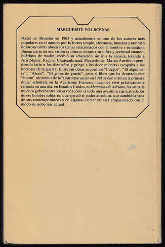 memorias de adriano - marguerite yourcenar
