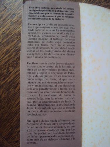memorias de judas petruccelli della gattina novela historica