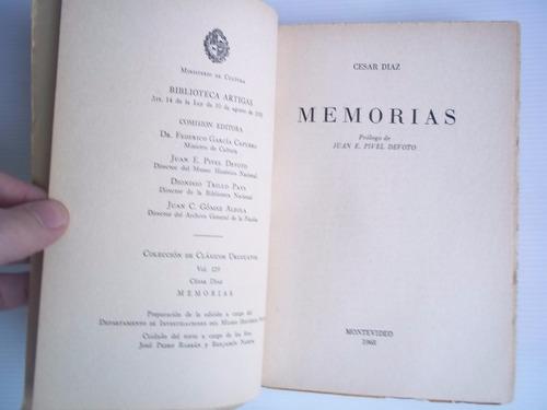 memorias del gral cesar díaz vol129 bibl artigas unico dueño