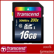 Memoria Transcend Sd 16 Gb Class10 Súper Rápida 200x