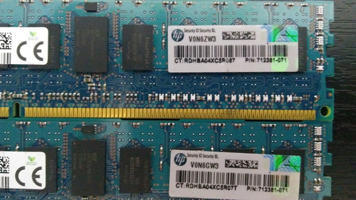 memorias hynix ddr3 8gb (2x4gb) pc3-14900r 1866mhz servidor
