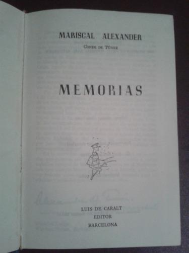 memorias mariscal alexander
