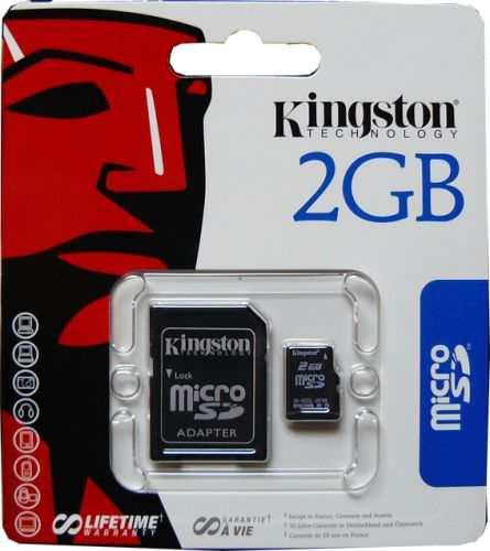 memorias micro kingston 2gb ( 2 en 1)