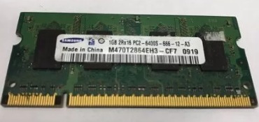 memorias notebook 1gb