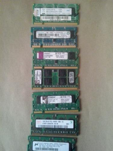 memorias notebook ddr2 1gb varias marcas