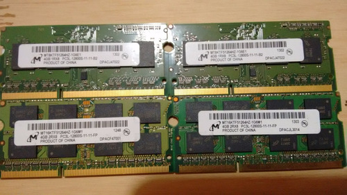 memorias notebook ddr3