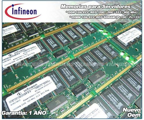 memorias para server 4gb ddr 333 / 400 ecc reg hp ibm dell