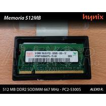 Memoria 512mb Ddr2 Sodimm 667 Mhz - Pc2-5300s