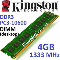 Memoria Ram Kingston 4gb Value Ram Pc 1333mhz Pc3-10600 Ddr3