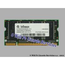 Memoria Ddr1 Para Portatil / 256mb / 333 / Pc2700 Infineon