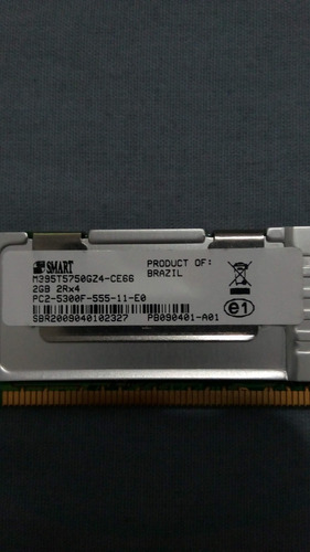 memórias smart 2gb ddr2 5300f 667mhz 2rx8