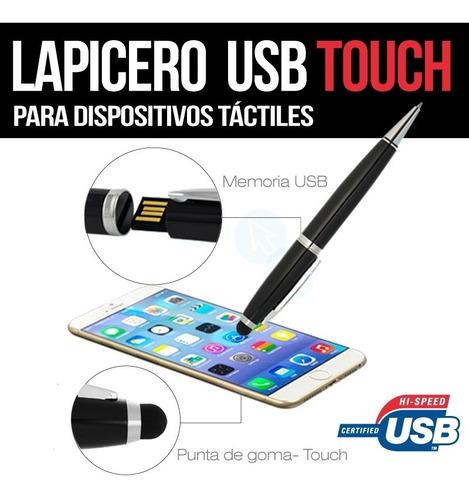 memorias usb 16gb lapicero touch para celulares y tablets