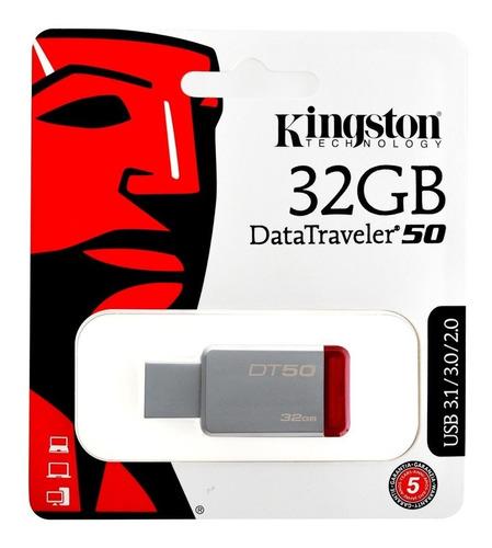 memorias usb 3.0 32gb kingston dt50 alta velocidad oferta pc lap mayoreo garantia original resistente metalica