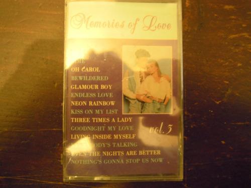 memories of love casette varios new y sellado