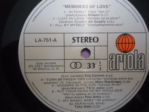 memories of love varios artistas vinyl lp acetato