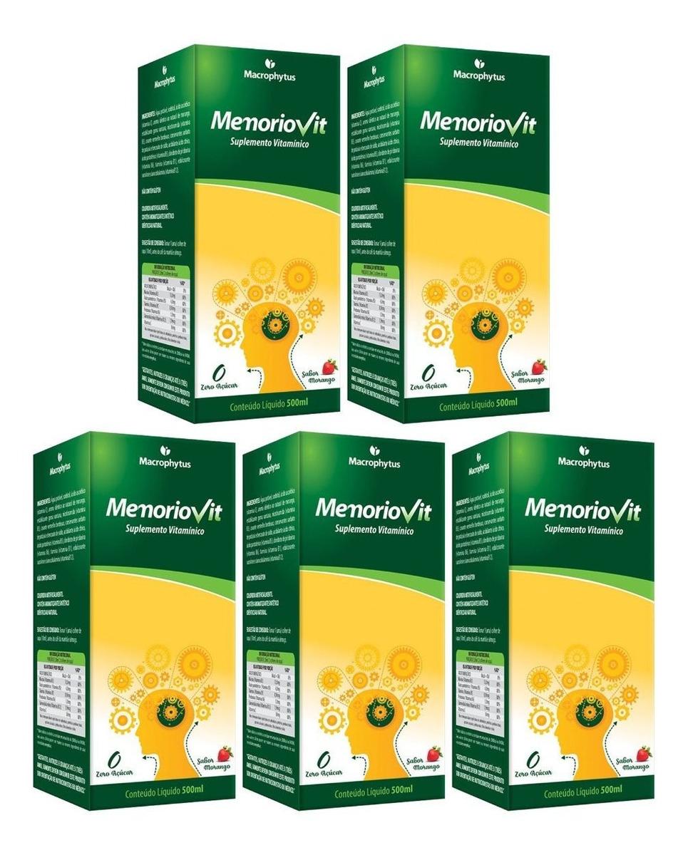 Memoriovit Polivitaminico 500ml Macrophytus Kit 5 Unidades