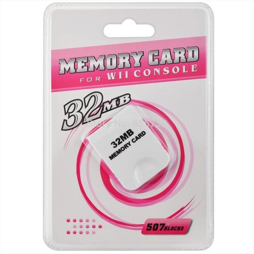 memory card 32mb wii y gamecube (nuevas y selladas)