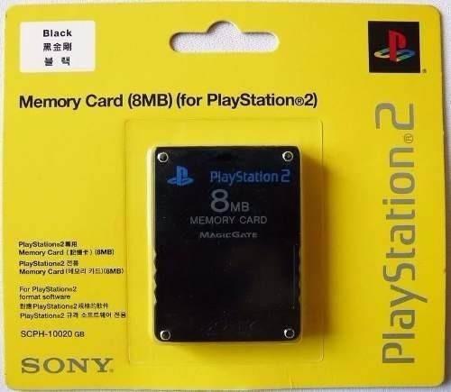 memory card 8mb ps2 original lacrado novo