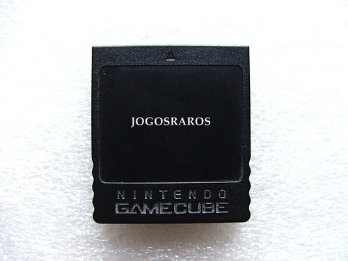 memory card game cube original preto com 251 blocos 100% ok!