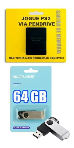memory card + opl, + pendrive 64 gb + 25 jogos + brindes!