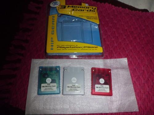 memory card play one 1. paquete de tres