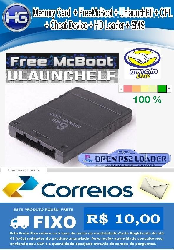 Memory Card Ps2 Com Opl Mais Novo + Freemcboot + Ulaunchelf