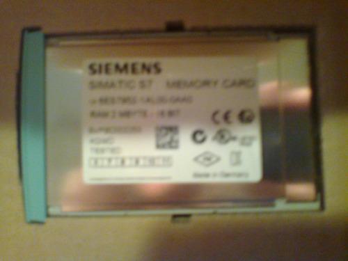 memory card siemens  2 mbyte modelo 6es7952-1al00-0aa0 nuevo