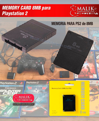 memory card sony play station 2 8 mb playstation 2 8mb