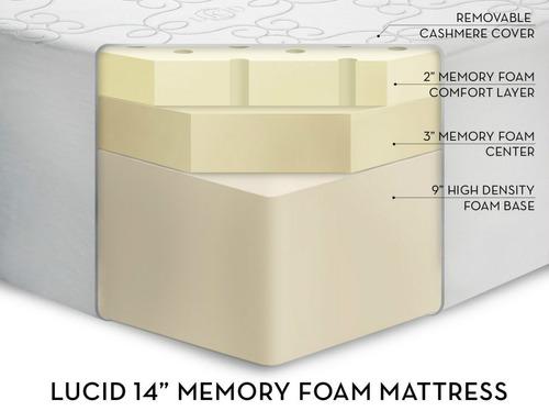 memory foam colchon individual 14 pulgadas