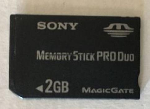 memory stick pro duo san disk ultra ii mobile 2gb