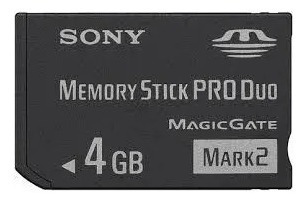 memory stick pro duo sony 4gb magicgate mark2 [lacrado] orig