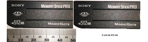 memory stick pro magic gate 512mb  novo (2 und )