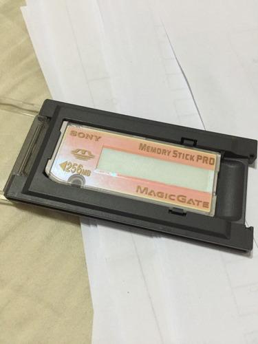 memory stick pro sony 256mb mágic gate com capinha