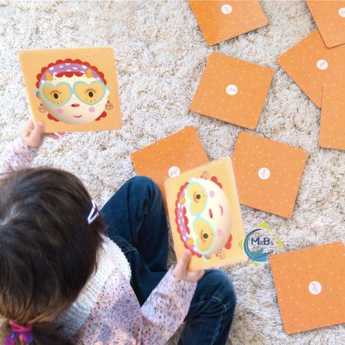 memotest clap piezas gigantes juego memoria disfraces niños