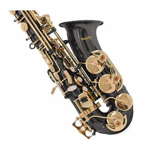 mendini de cecilio eb saxofón alto con sintonizador, estuche