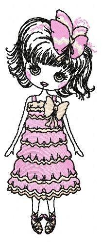 menina beth - coleção de matriz de bordado
