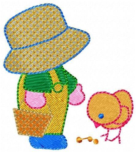 menininho sun - coleção de matriz de bordado