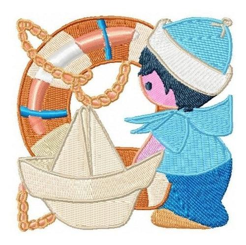 menino marinheiro 002 - coleção de matriz de bordado
