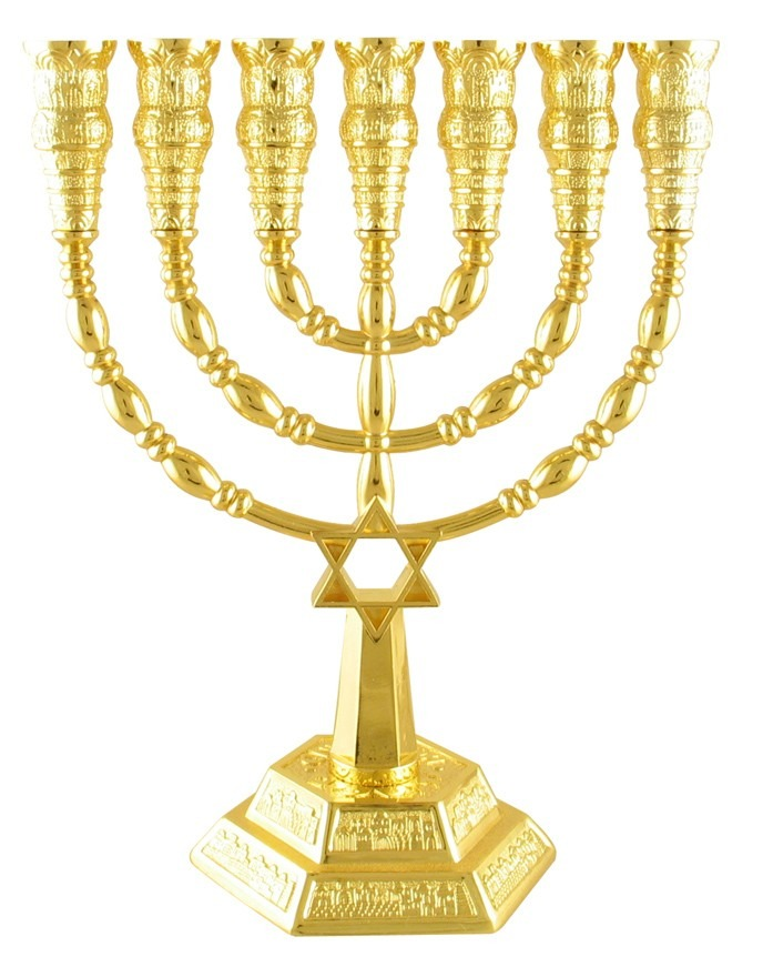 menorah de siete ramas dorada con estrella de david star of david vector art star of david vector free download