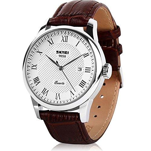 Mens Reloj De Cuarzo Numero Romano Reloj De Pulsera Analogi