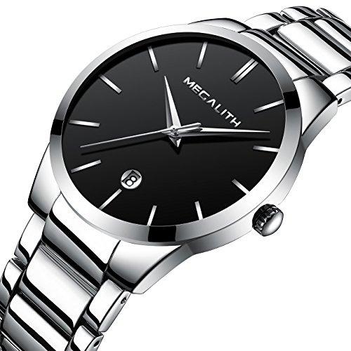 3fb43b9225 Mens Stainless Steel Watches Men Luxury Waterproof Date Casu ...
