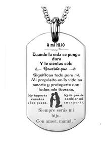 71a0c6bbb99f Mensaje A Mi Hijo Personalizado Con Nombre + Cadena/llavero