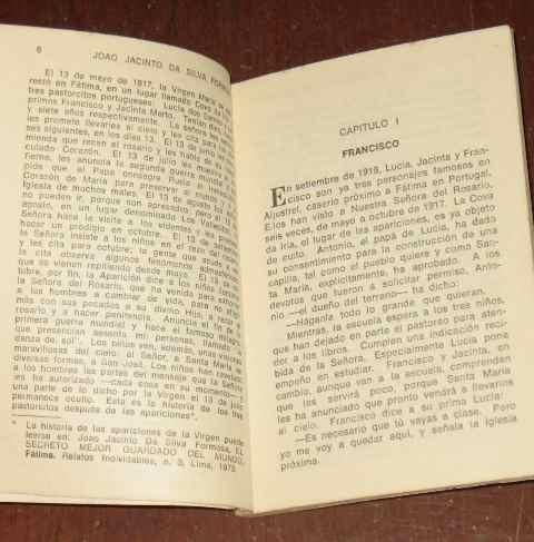 mensaje de dos mundos lucía francisco jacinto virgen silva