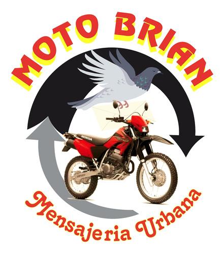 mensajería c/priv en moto env.flex/delívery motobrian.com.ar