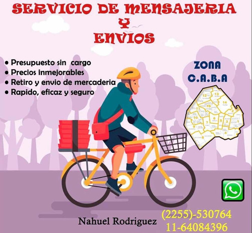 mensajería en bicicleta