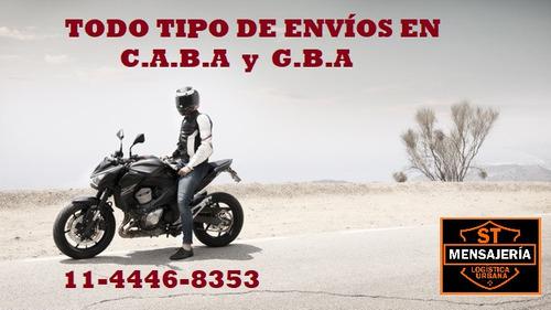 mensajeria en moto envios flex capital y gba motomensajeria