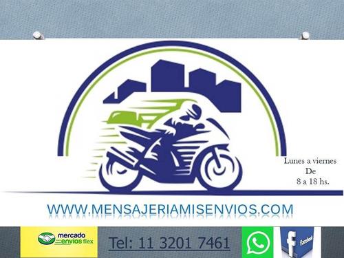 mensajeria en moto envios flex en caba y gran buenos aires.