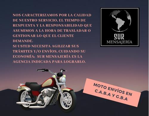 mensajeria en moto motomensajeria capital y gba tarifa fija