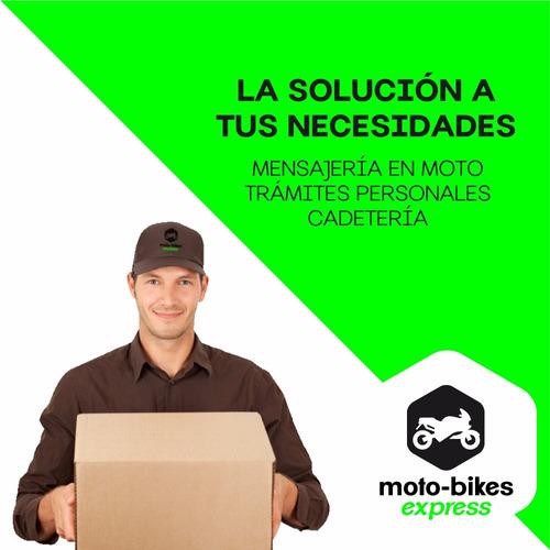 mensajería en moto y bicicleta - cadetería