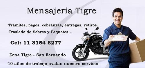 mensajeria en tigre